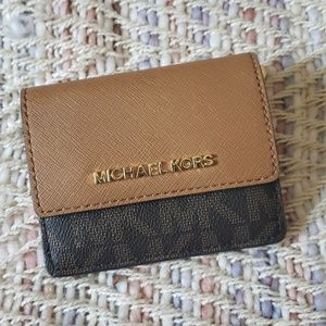 MICHAEL KORS Leather Credit Card Wallet